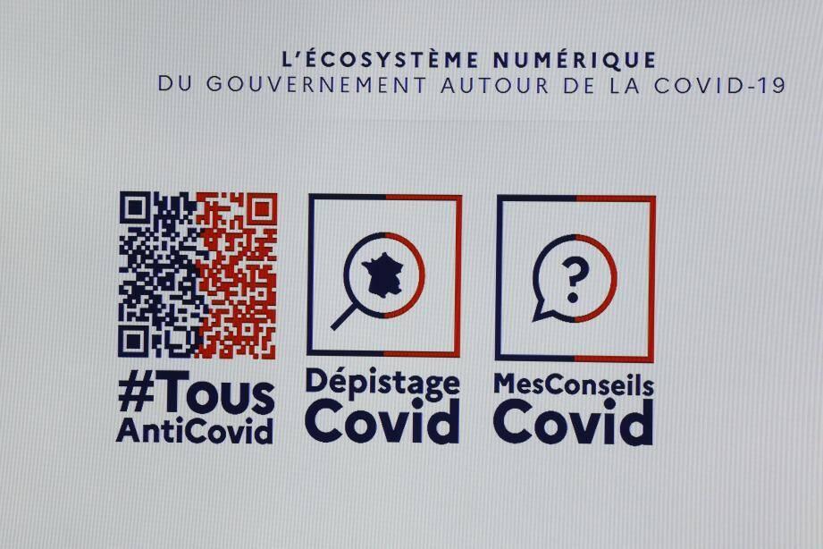 """Le logo de la nouvelle application """"Tous Anti Covid""""."""