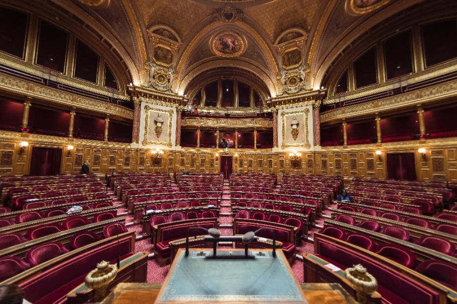 L'hémicycle du Sénat à Paris