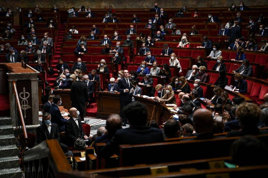 L'assemblée nationale le 6 octobre 2020 lors d'une session de questions au gouvernement