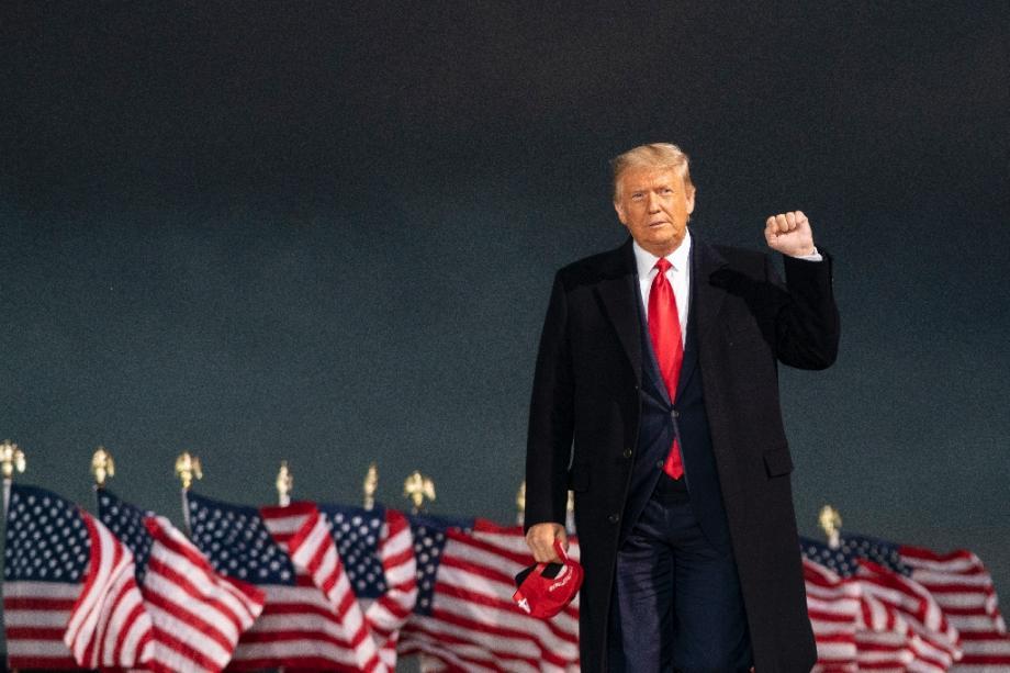 Le président américain Donald Trump à Des Moines, le 14 octobre 2020, dans l'Iowa