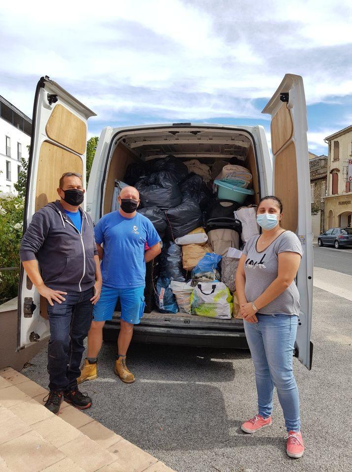 De nombreuses municipalités comme Cogolin ont lancé un appel aux dons.