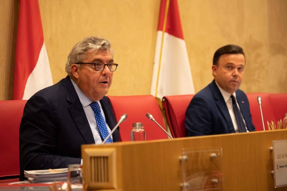 Pierre Dartout et Stéphane Valeri lors des derniers débats budgétaires.