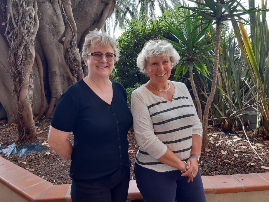 Berthe Mineo (à gauche) succède à Nicole Delon-Lançon à la tête du Soroptimist de Menton.