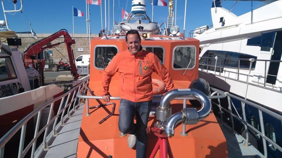 Frédéric saveuse est le président de la SNSM Saint-Tropez.