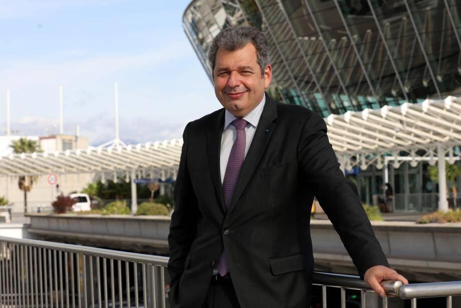 Franck Goldnadel, patron de l'aéroport Nice Côte d'Azur, mais aussi de Cannes-Mandelieu et du Golfe de Saint-Tropez.