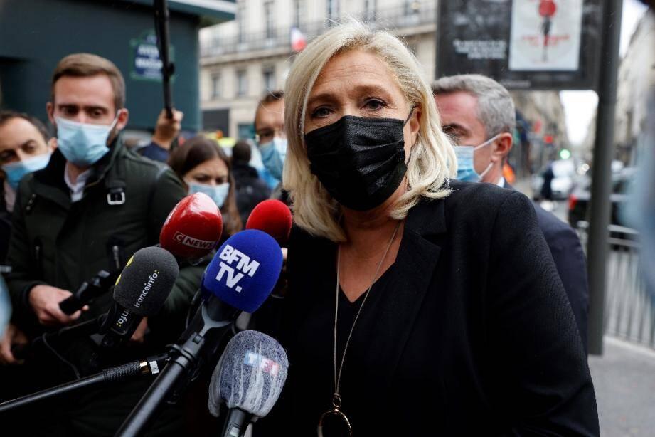 La présidente du Rassemblement National Marine Le Pen, le 6 octobre à Paris