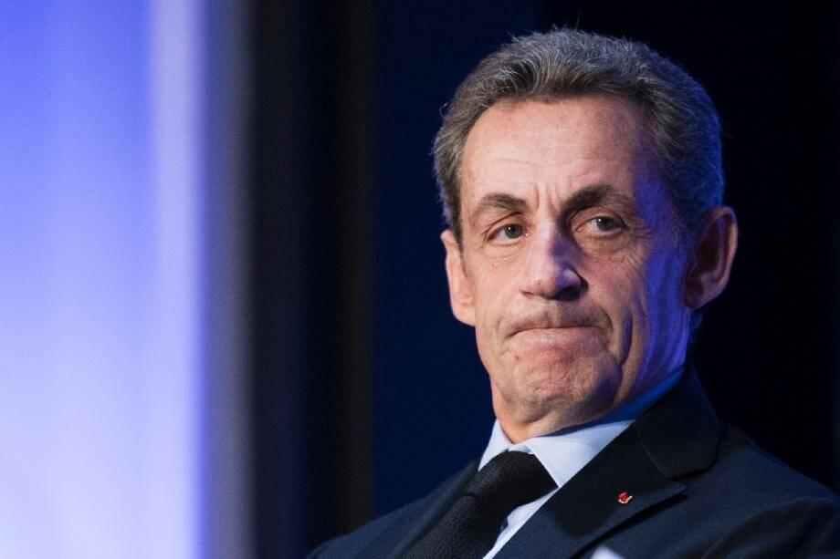 Nicolas Sarkozy le 27 septembre 2016 à Paris, lors d'un meeting.