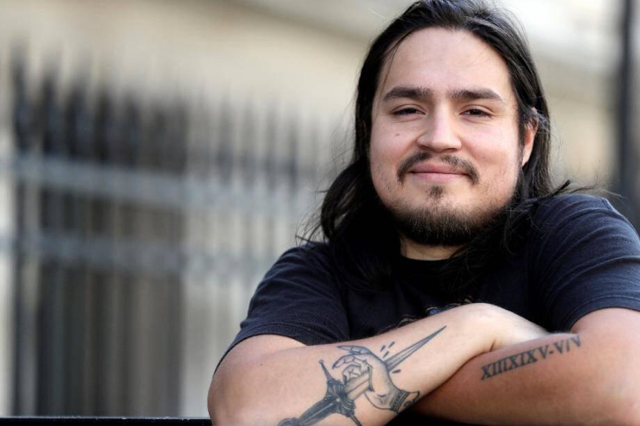 Le Franco-chilien David Fritz Goeppinger, l'un des survivants du massacre jihadiste du Bataclan, le 4 juillet 2017 à Paris