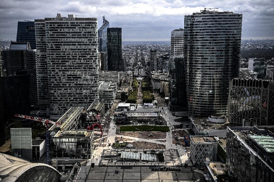 Le quartier de La Défense, le 8 octobre 2020, à Paris