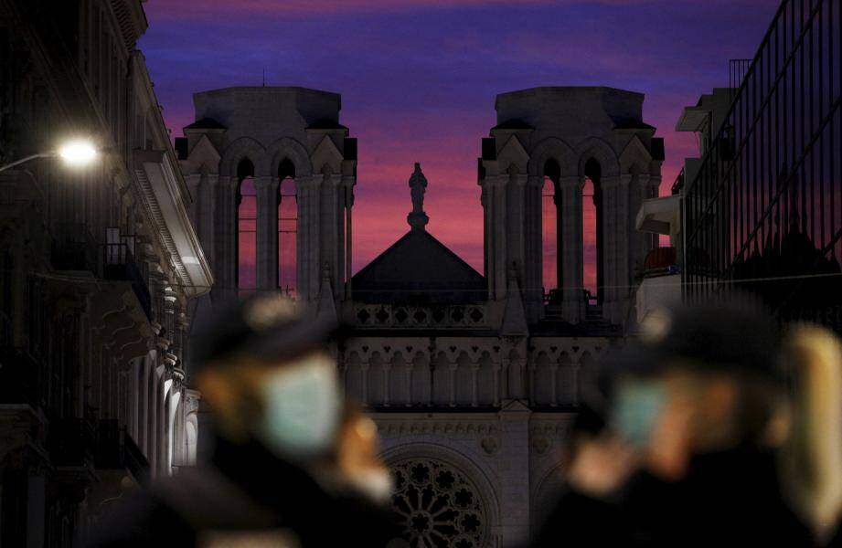 La basilique Notre-Dame de Nice le 29 octobre