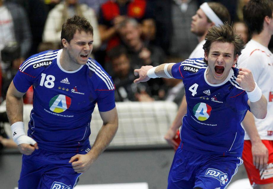 William Accambray le Cannois et Xavier Barachet le Niçois en équipe de France.