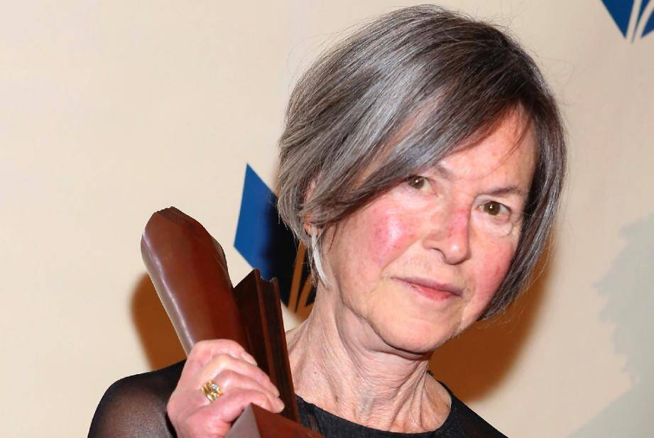 Photo d'archives de la poétesse américaine Louise Gluck prise le 19 novembre en 2014 à NewYork
