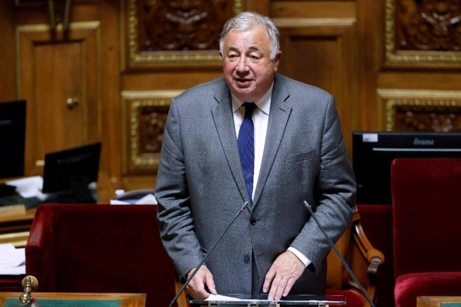 Le président du Sénat Gérard Larcher lors de son discours à sa réélection, le 1er octobre 2020