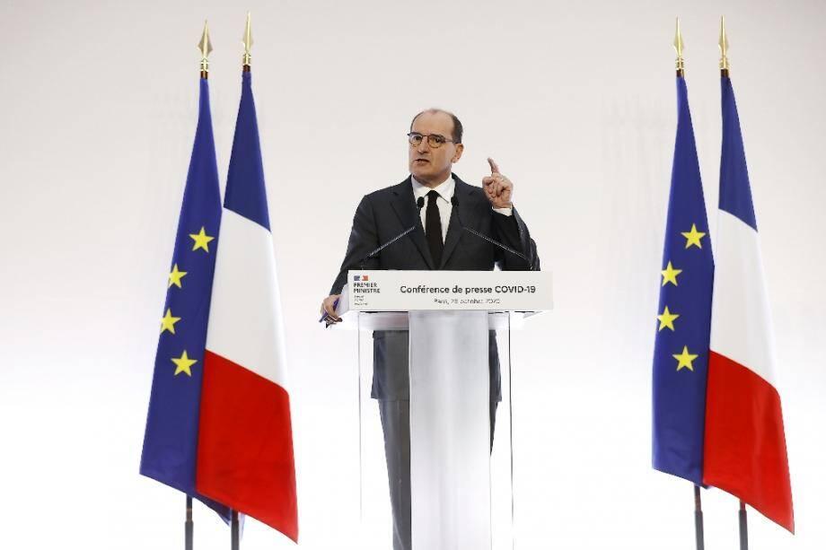Jean Castex lors d'une conférence de presse à Matignon, le 29 octobre 2020