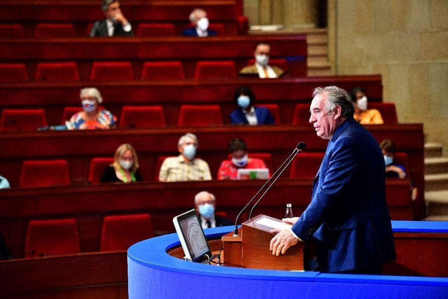 François Bayrou au Conseil Economique, Social et Environnemental (CESE) à Paris le 22 septembre 2020