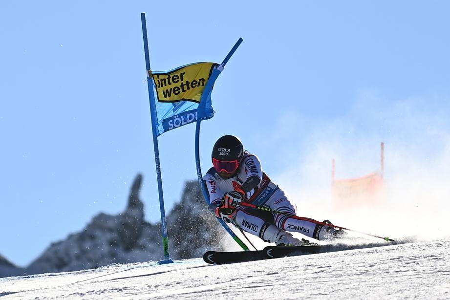 Mathieu Faivre, ce dimanche, sur le géant d'ouverture à Sölden en Autriche.