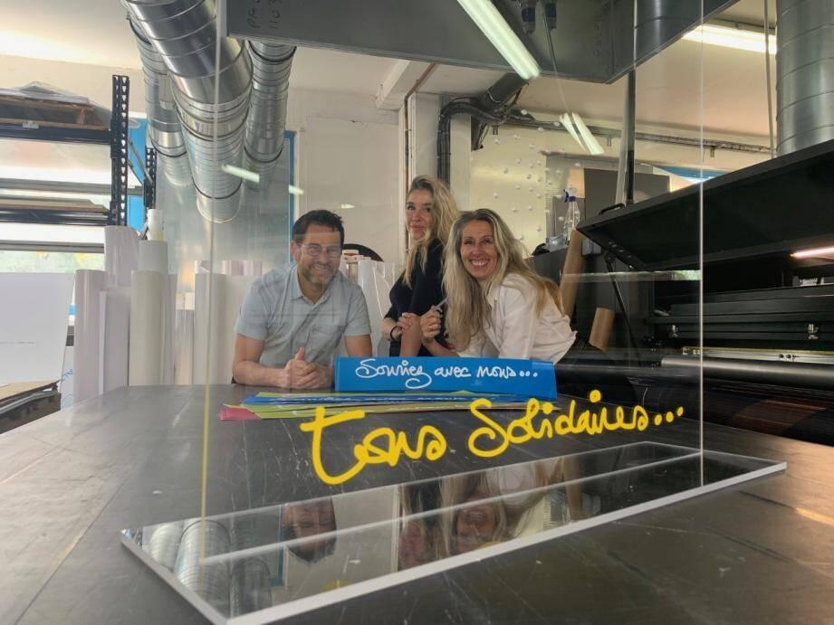 Lionel, Laure et Claire Peradotto ont lancé une gamme spéciale anti-Covid.
