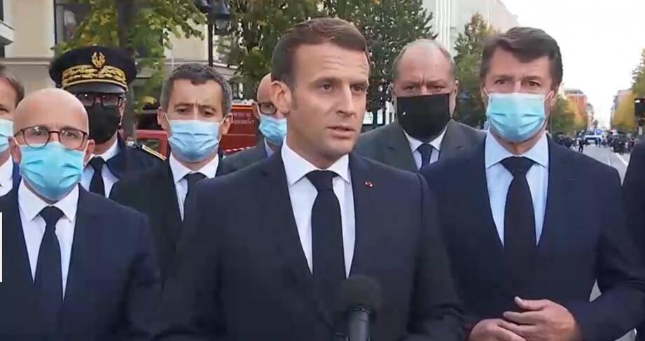 """Attentat de Nice: """"Une attaque terroriste islamiste"""", des renforts  militaires... ce qu'il faut retenir de l'intervention d'Emmanuel Macron -  Nice-Matin"""