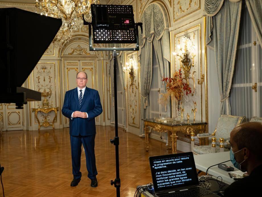 Le prince Albert II a dévoilé les grands axes qui devraient s'appliquer durant un mois.