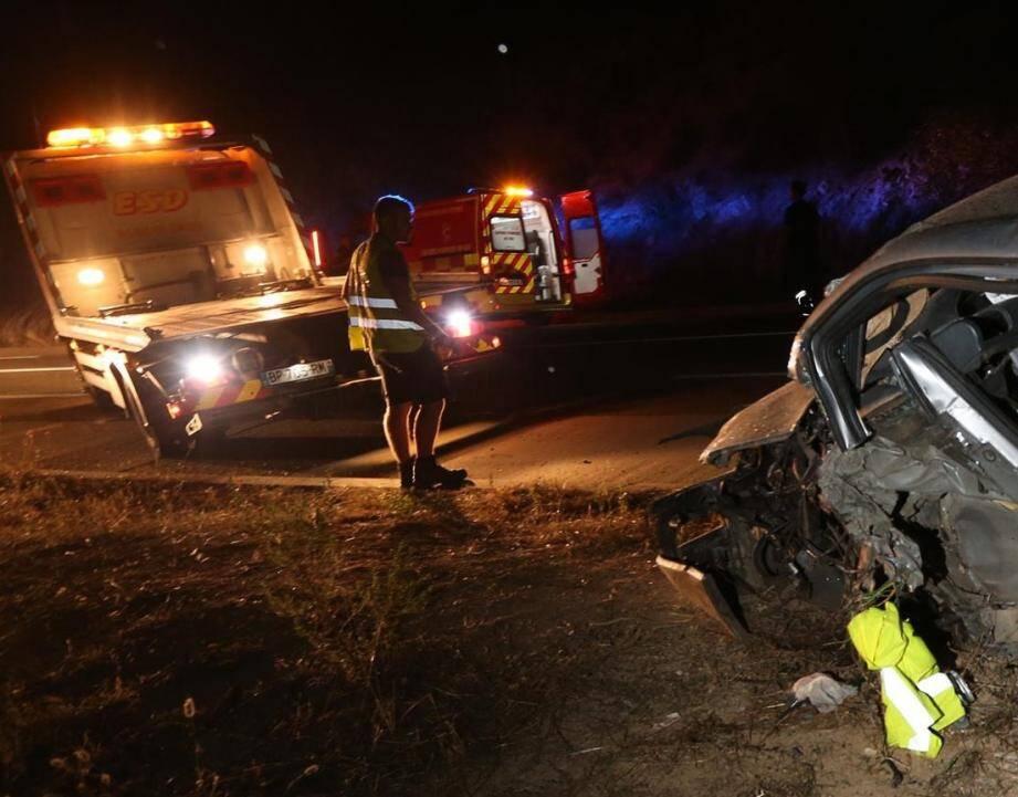 La baisse de la visibilité due au changement d'heure est synonyme d'augmentation des accidents de la route.   fd accident rd 125 route du muytye maximecommune sye fd accident