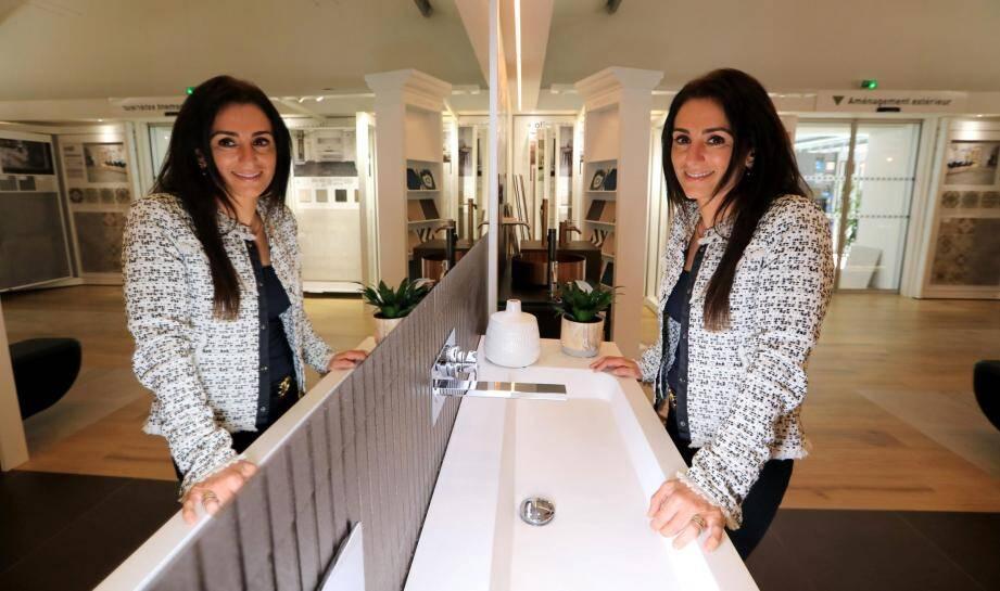 m by marmorini, le nouveau concept de salle de bains sur mesure à prix abordable lancé par Céline Valentini Arnulf.
