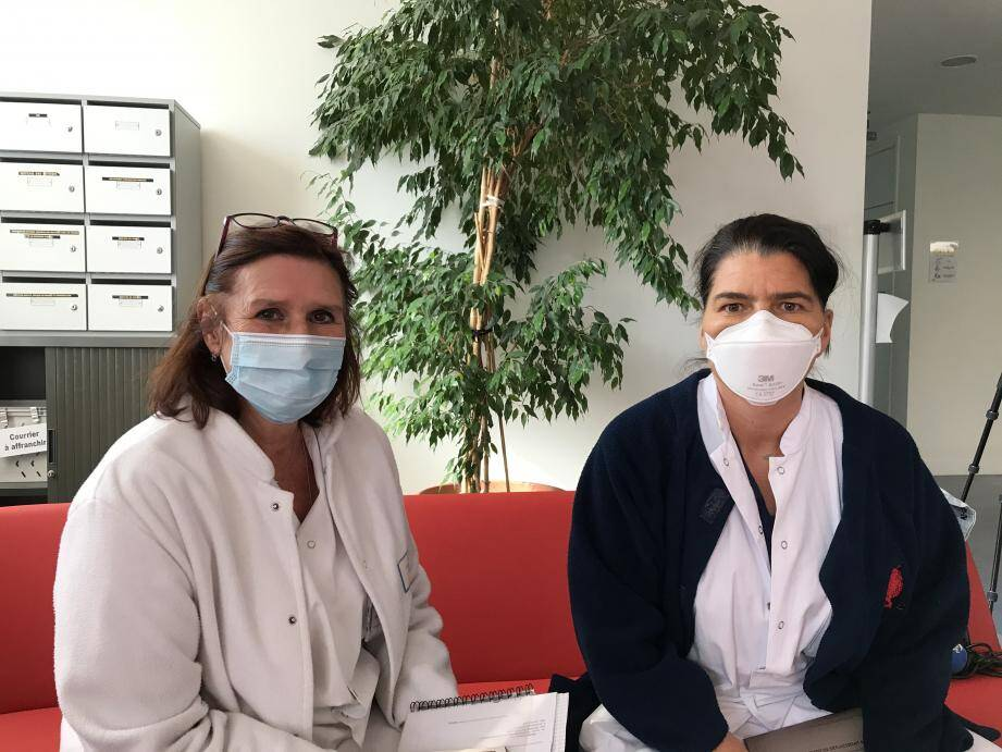 Les Docteurs Andreotti et Audigier-Valette, pneumologues à Sainte-Musse.