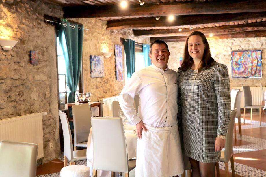 Les gérants du restaurant Clos Pierrepont  à Draguignan