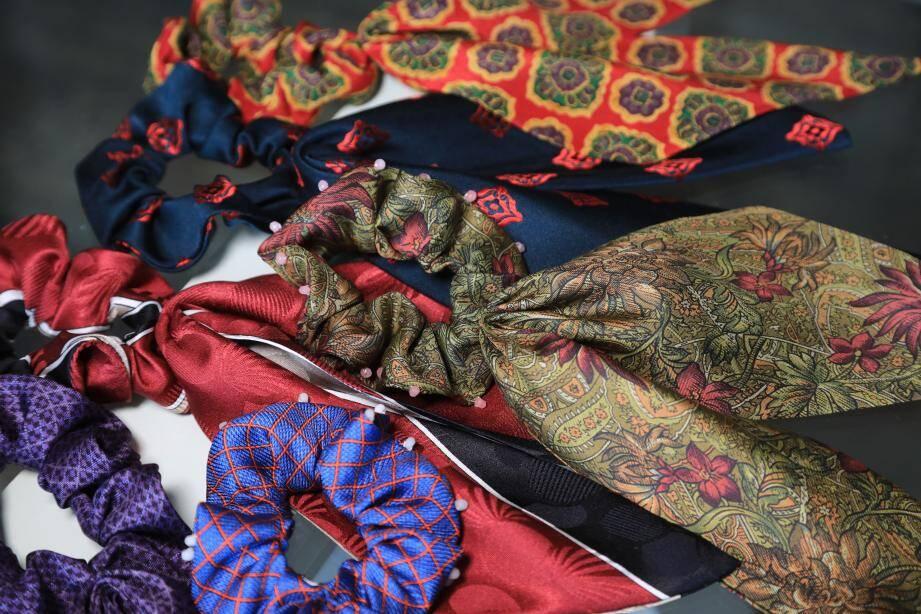 Envies de chouchous nés à partir de cravates ? Laissez-vous tenter par les créations de Suzy chang.