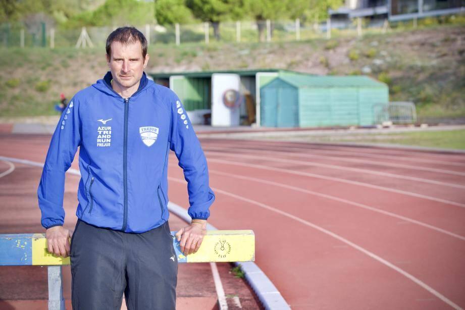 Frédéric Roger, président de la section athlétisme de l'AMSL de Fréjus.