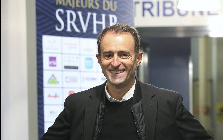 Emmanuel Murzereau, ici contre Chartres, pour son premier match en tant que président du SRVHB.