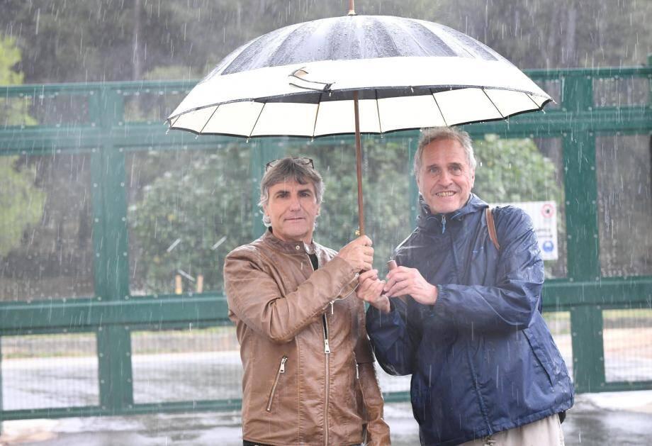 Gérard Pedini et Christian Saint-Luc, initiateurs d'un collectif de riverains.