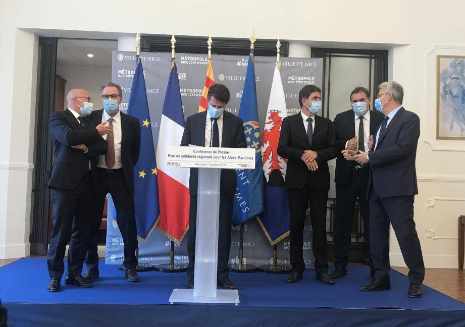 Après un bilan de la situation dans laquelle se trouve la métropole, Christian Estrosi et Renaud Muselier ont annoncé en conférence de presse ce midi, un plan de solidarité régionale.
