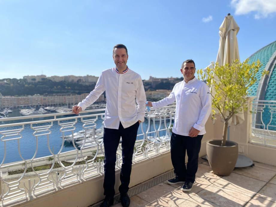 Le chef du Vistamar Jean-Philippe Borro reçoit pour le week-end, Philippe Mille, à la tête du restaurant du Domaine des Crayères à Reims, pour un échange gastronomique