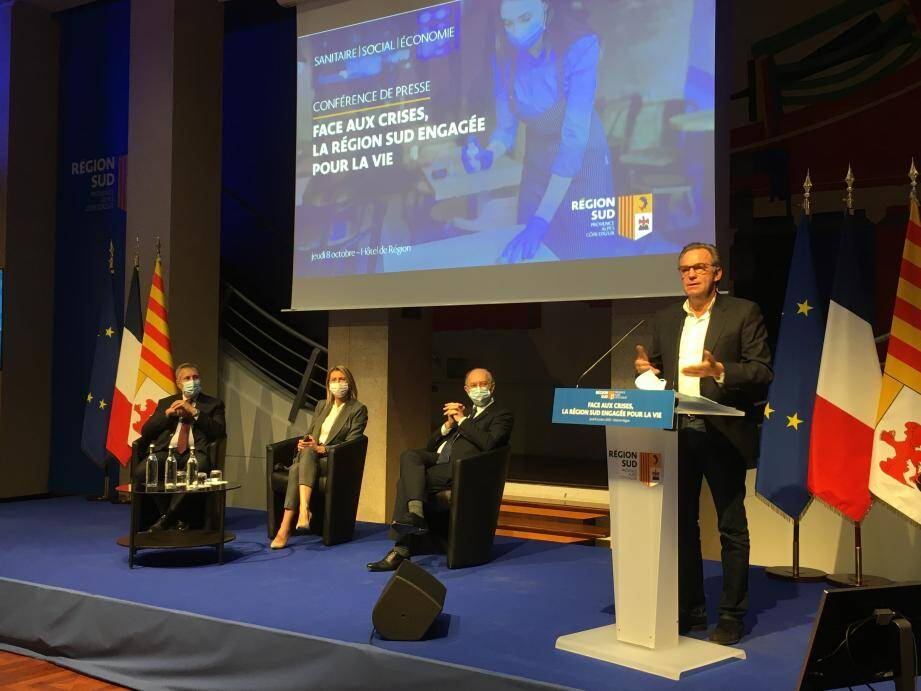 Renaud Muselier, président de la Région Provence-Alpes-Côte-d'Azur, à Marseille ce jeudi 8 octobre.