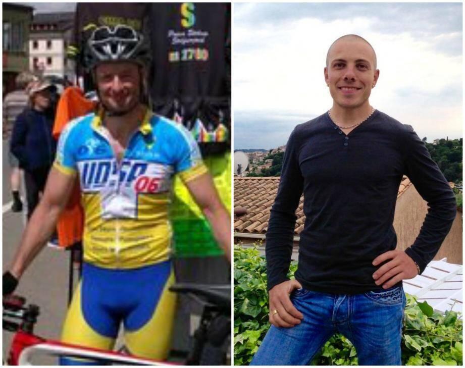 Bruno Kohlhuber est un fan de vélo. Loïc Millo, pompier volontaire à Saint-Martin-Vésubie son village.