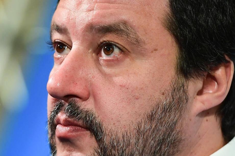 L'ancien ministre de l'Intérieur italien Matteo Salvini.
