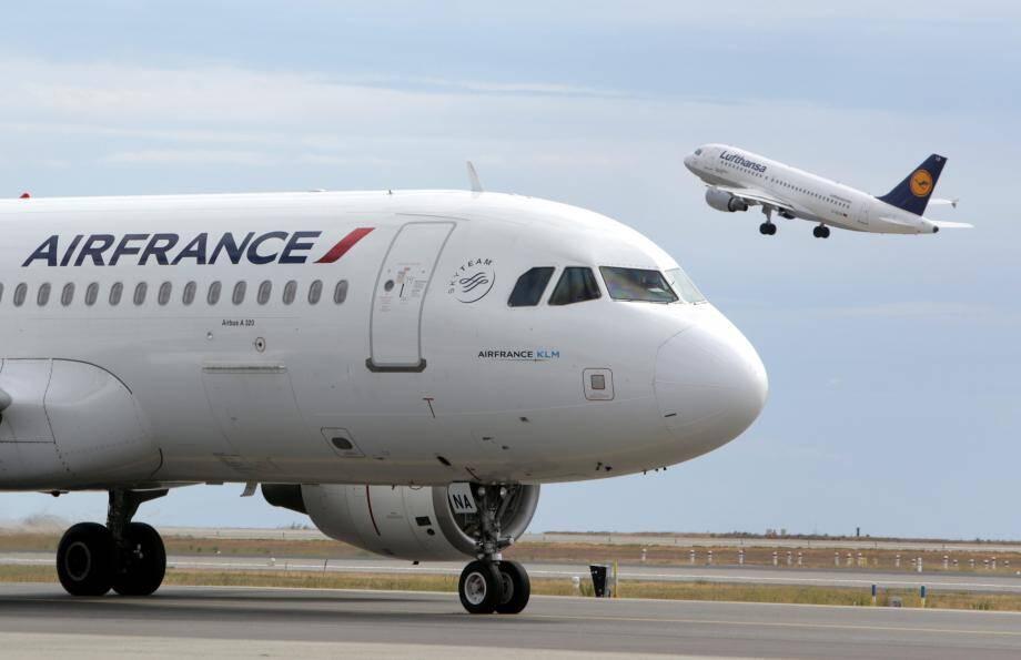 Un avion d'Air France sur le tarmac de l'aéroport de Nice (illustration).