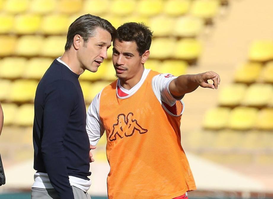 Niko Kovac et son capitaine Wissam Ben Yedder.