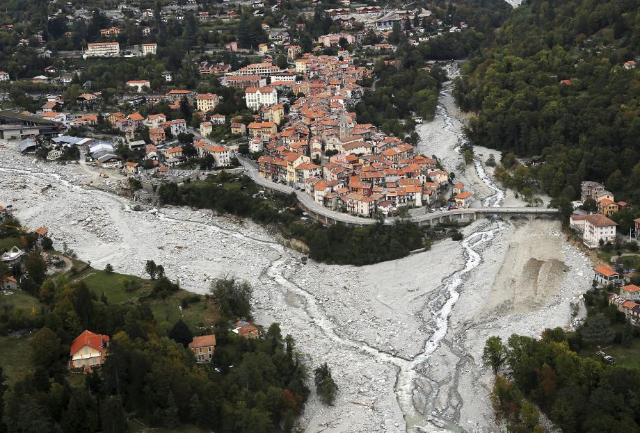Le village de Saint-Martin-Vésubie.