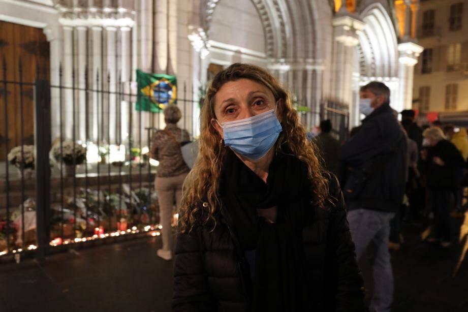 Fabienne Langoureau après l'attentat de Notre Dame de Nice