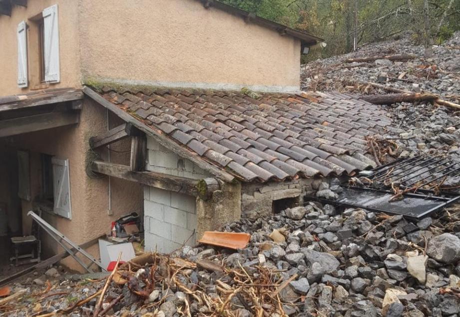 La maison d'un voisin en aval de chez Jacques Strugo.