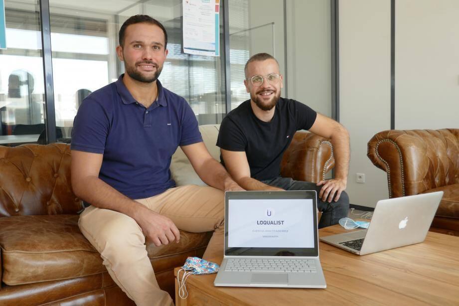 Steven Oziol et Damien Motte (de gauche à droite) se sont connus au collège. Ils ont mixé leurs compétences en école de commerce, finances et énergies renouvelables avec celles de Vincent Spano, ingénieur, pour lancer Loqualist il y a un an.