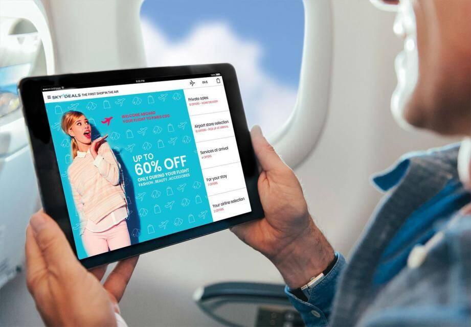 Nouveaux clients pour la monégasque Skydeals et son e-shopping à bord.