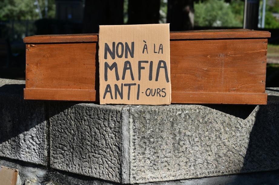 Lors d'une manifestation des défenseurs de l'ours en juin dernier en Ariège.