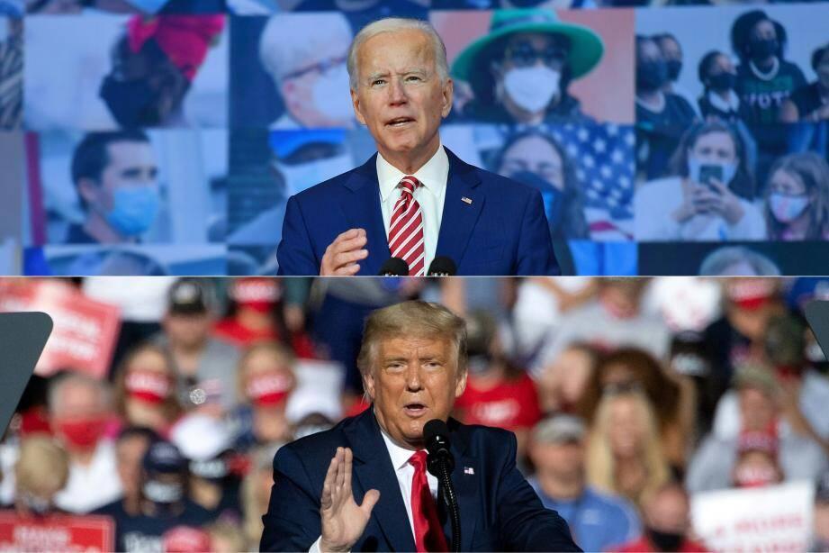 Biden et Trump.