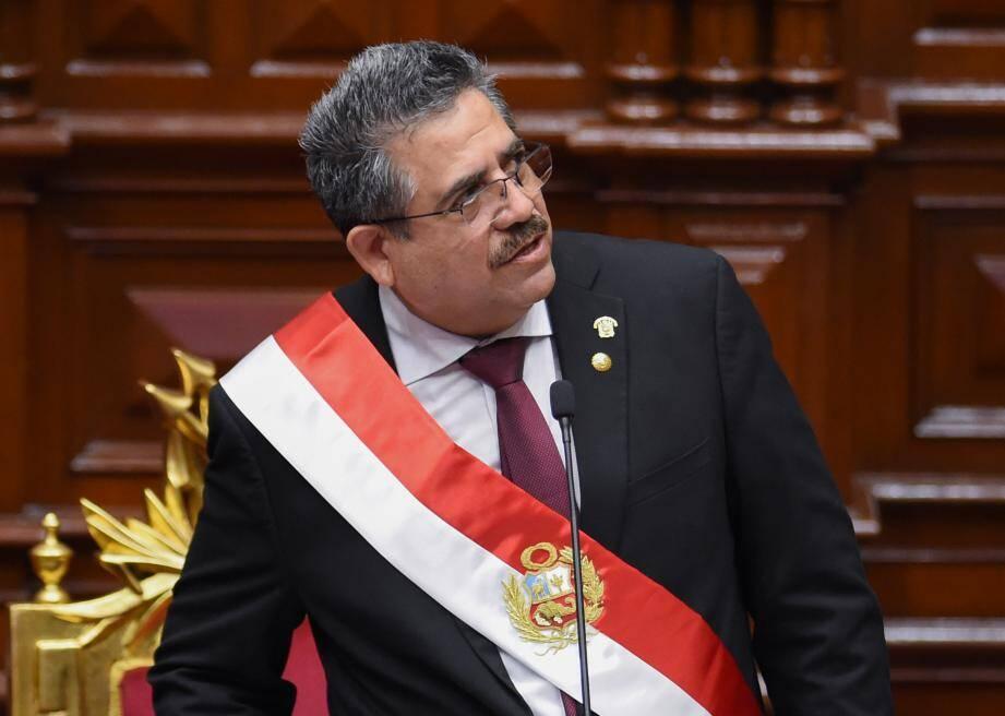 Manuel Merino, le nouveau président du Pérou.