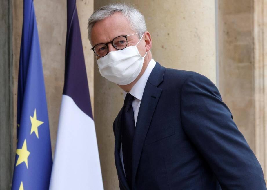 Le ministre de l'Economie  Bruno Le Maire le 19 octobre 2020 à Paris