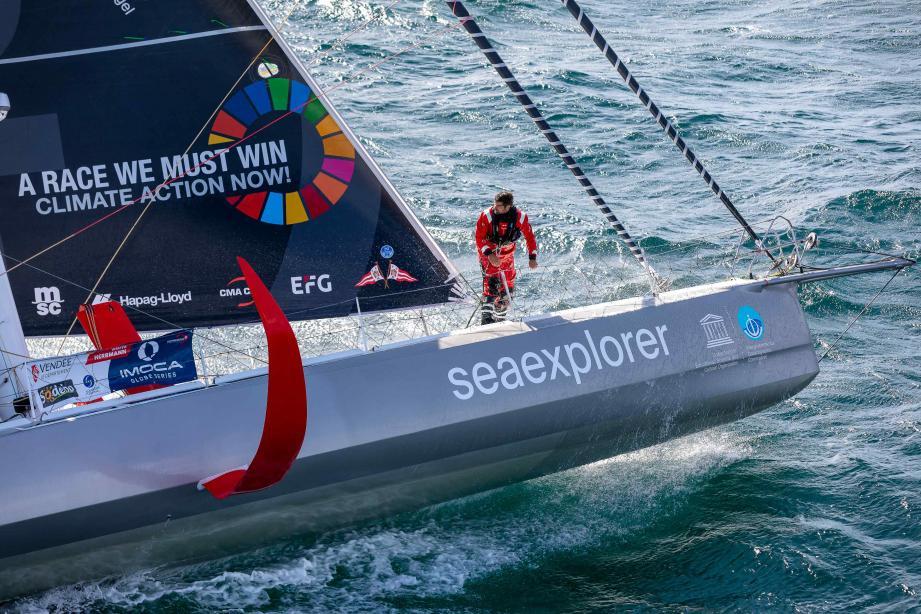 Le bateau de la team Malizia prêt pour sa course la plus symbolique.