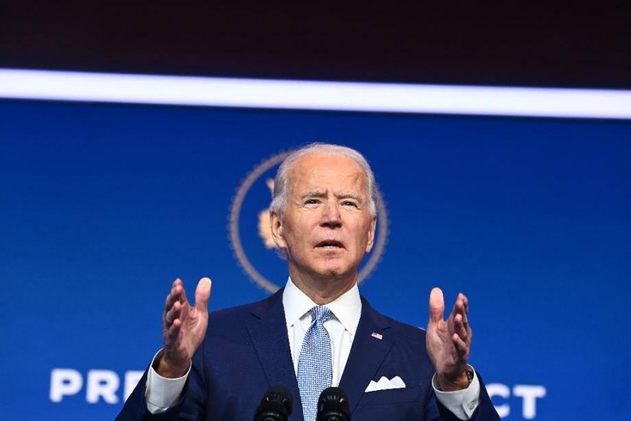 Joe Biden lors de la présentation des premiers grands noms de son futur gouvernement, le 24 novembre 2020 à Wilmington, dans le Delaware