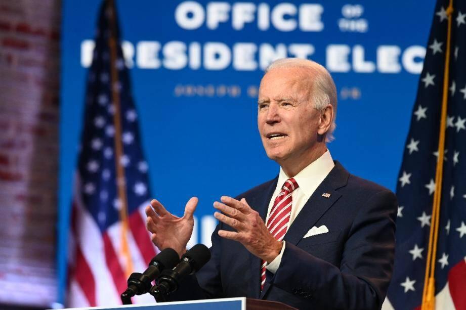 Joe Biden, le 16 novembre 2020 à Wilmington